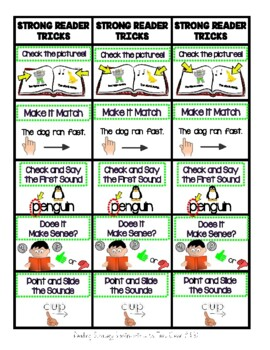 Reading Strategy Bookmarks with Matching Poster