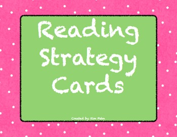 Reading Strategy Bulletin Board Cards