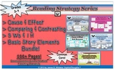 Reading Strategy Bundle Cause Effect Compare Contrast 5 Ws Literary Elements