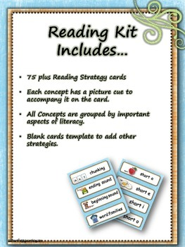 Reading Strategy Cards - 1&2 Grade Monkey Business