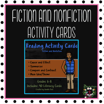 Reading Activity Cards (Fiction and Nonfiction)