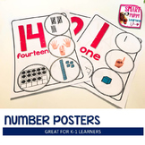 Number Posters (1-20) - Pink with White Background