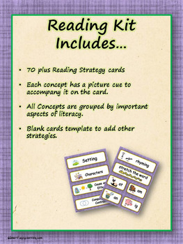Reading Strategy Cards - Kinder Its a Hoot! Owl Theme