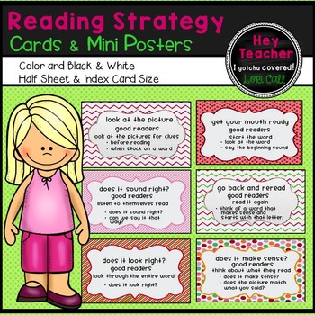 Reading Strategy Cards and Mini Posters