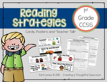 Reading Strategy Cards for 1st Grade Reader's Workshop
