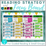 Reading Strategy and CAFE Focus Board