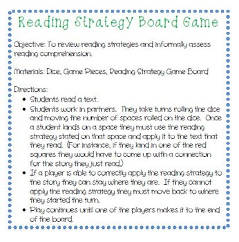 Reading Strategy Center Activity