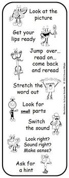 Reading Strategy Character Bookmarks