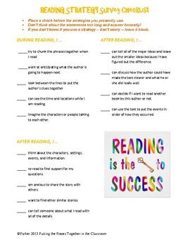 Reading Strategy Checklist Survey