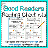 Reading Strategy Decoding Checklist Visual for Students | Reading Center Tasks