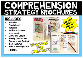 Reading Strategy Comprehension Brochures open ended book r