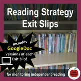 Reading Strategy Exit Slips - Distance Learning