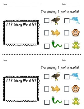 Reading Strategy Exit Ticket