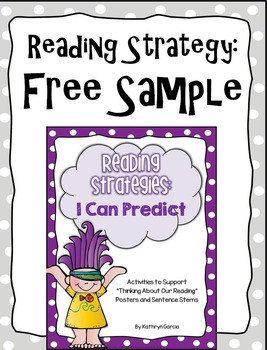 Reading Strategy FREE Sample: I Can Predict