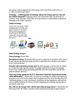 Reading Strategy File- Before, During, and After