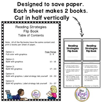 Reading Strategy Flip Book - Student Reading Strategies Flip Book