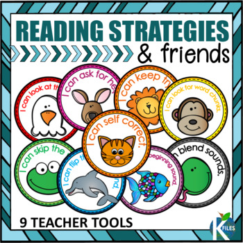 """Reading Strategy Friends with """"I can"""" Statements Posters, Bookmarks & more!"""
