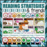 """Reading Strategy Friends with """"I can"""" Statements Posters & more"""