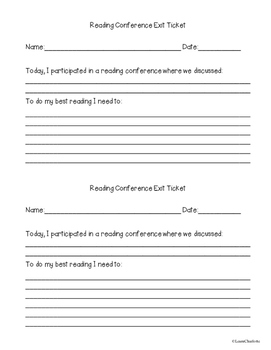 Reading Strategy Group Exit Ticket {Guided Reading and Reading Conferences too!}
