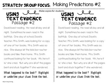 Reading Strategy Groups 2nd Grade MAKING CONNECTIONS AND PREDICTIONS