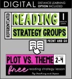 Reading Strategy Groups: Plot vs. Theme FREEBIE!