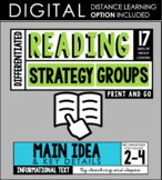 Reading Strategy Groups: Main Idea & Key Details (with DISTANCE LEARNING option)