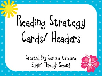 Reading Strategy Headers/Cards