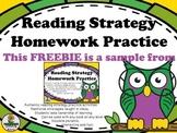 Daily 5/CAFE Reading Strategy Homework FREEBIE