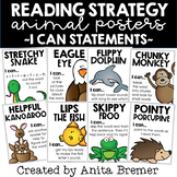 Reading Strategy I Can Statement Animal Posters