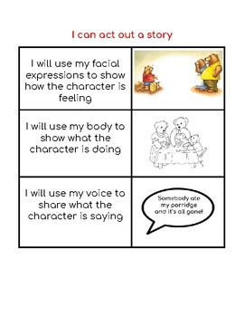 Reading Strategy:  I can act it out