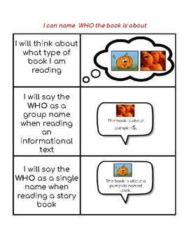 Reading Strategy:  I can name the who in books