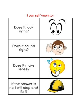 Reading Strategy:  I can self-monitor