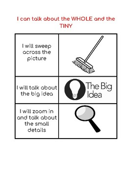 Reading Strategy:  I can talk about the whole and the tiny in informational text
