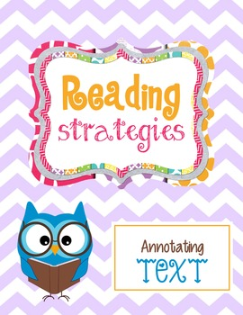 Reading Strategy:  Introduction to Annotating Text with Metacognitive Markers