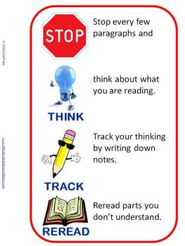 Reading Strategy Lesson Plan, Bookmarks, Reading Trackers & Poster