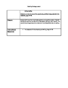 Reading Workshop Strategy Lesson Plans Bundle