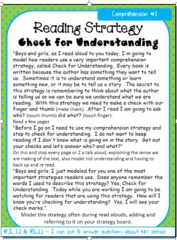 Reading Strategy Lessons 1st Grade