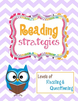 Strategy: Levels of Reading & Questioning Bookmark or Interactive Notebook