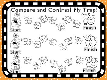 Reading Strategy Literacy Center Games 5 games Compare Contrast Infer Main Idea