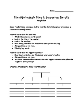 Reading Strategy-Main Idea & Supporting Details