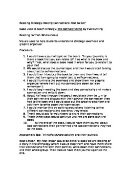Reading Strategy: Making connections - text to self