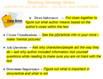Reading Strategy Notes