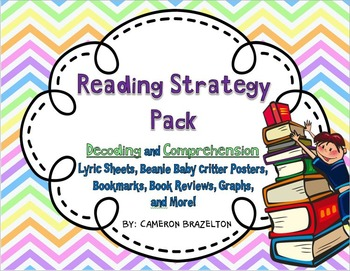 Reading Strategy Pack (Beanie Baby, Comprehension, Decoding, Song Lyrics)