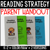 Reading Strategy Parent Handout {Primary}