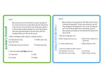 Reading Strategy Passages with Multiple Choice Questions