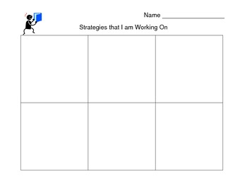 Reading Strategy Post It Note Chart