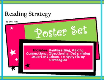 {Reading Strategy Poster Set} 5 Bundled Posters