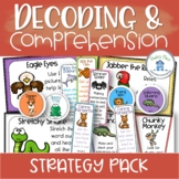 Decoding and Comprehension Strategy Posters Banners Bookmarks