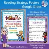 Reading Strategy Poster Set - Google Slides (Distance Learning)