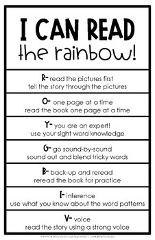 Read the Rainbow Reading Strategy Poster Set